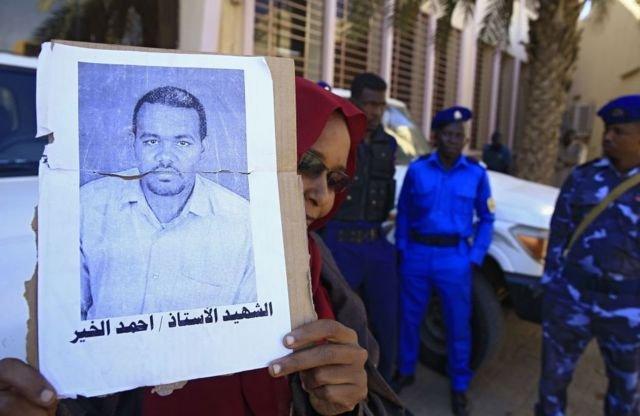 حكم بإعدام ٢٩ عنصر من المخابرات السودانية، على خلفية مقتل الناشط السوداني أحمد الخير،